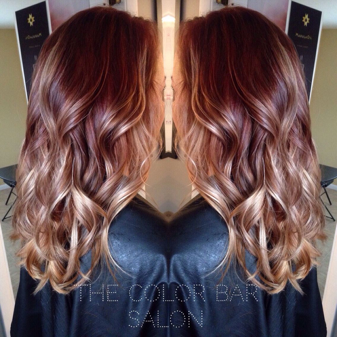 Red Brown To Blonde Ombre Brown Ombre Hair Color Burgundy