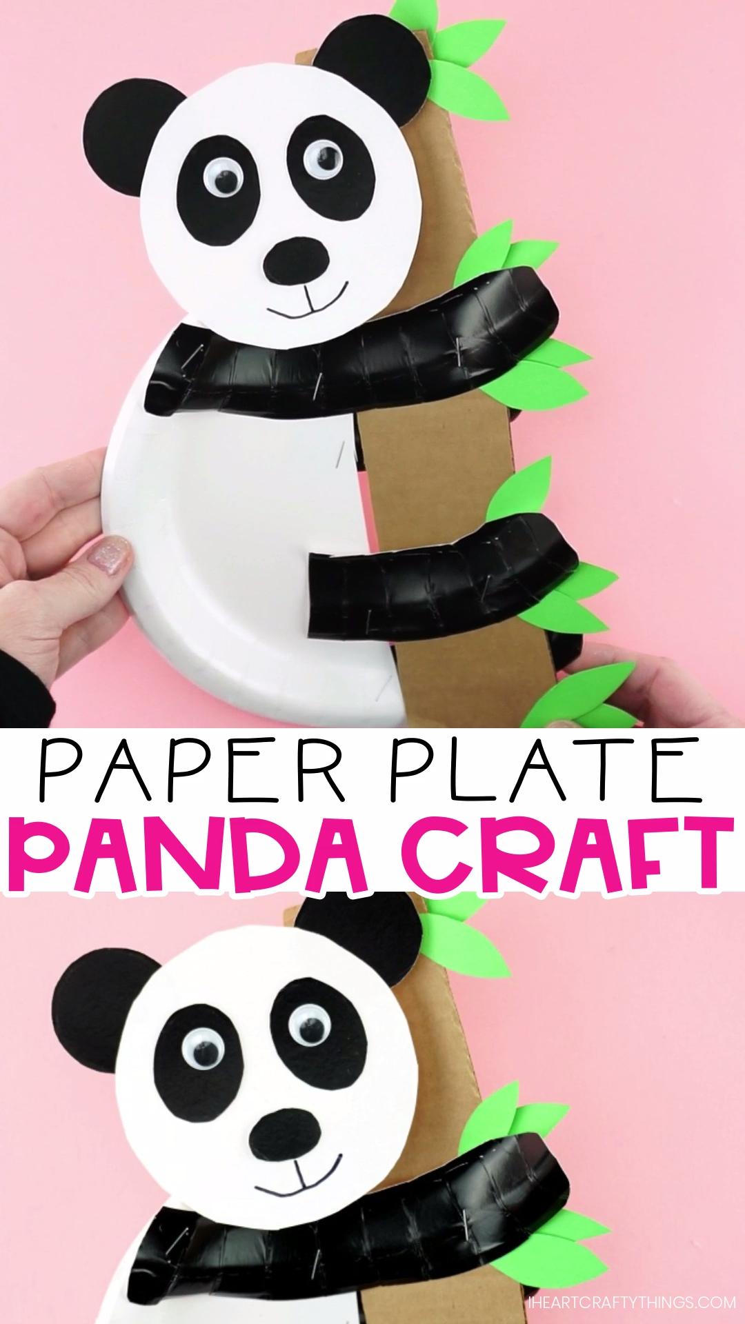 How to Make a Paper Plate Panda Bear Craft