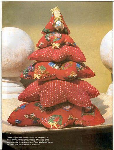 Creando cosas Bellas Arbol de navidad en tela navideños - cosas de navidad
