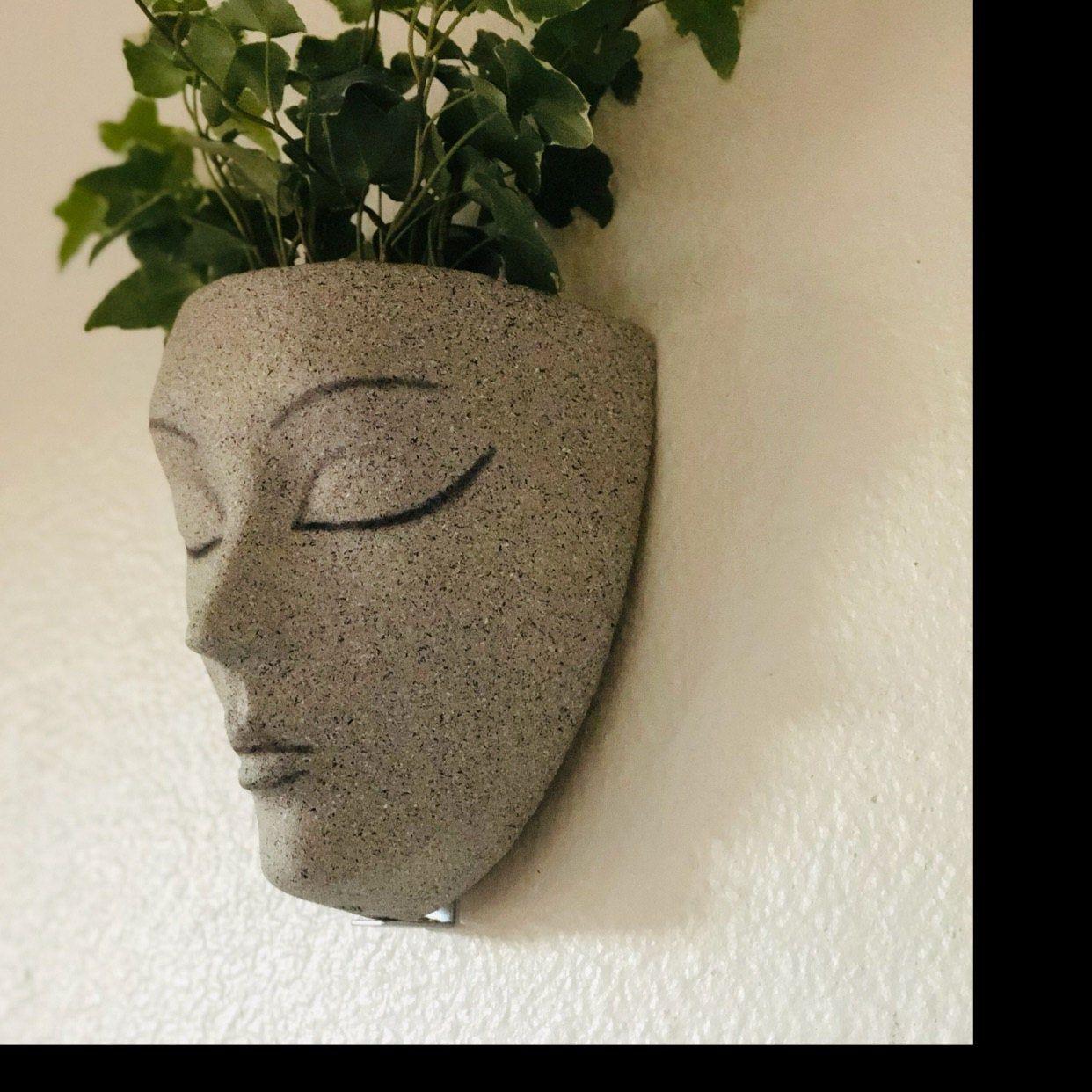 Pflanzer Topfe Fur Pflanzen Wandpflanzer Wandkunst Etsy Wall Planter Head Planters Planters