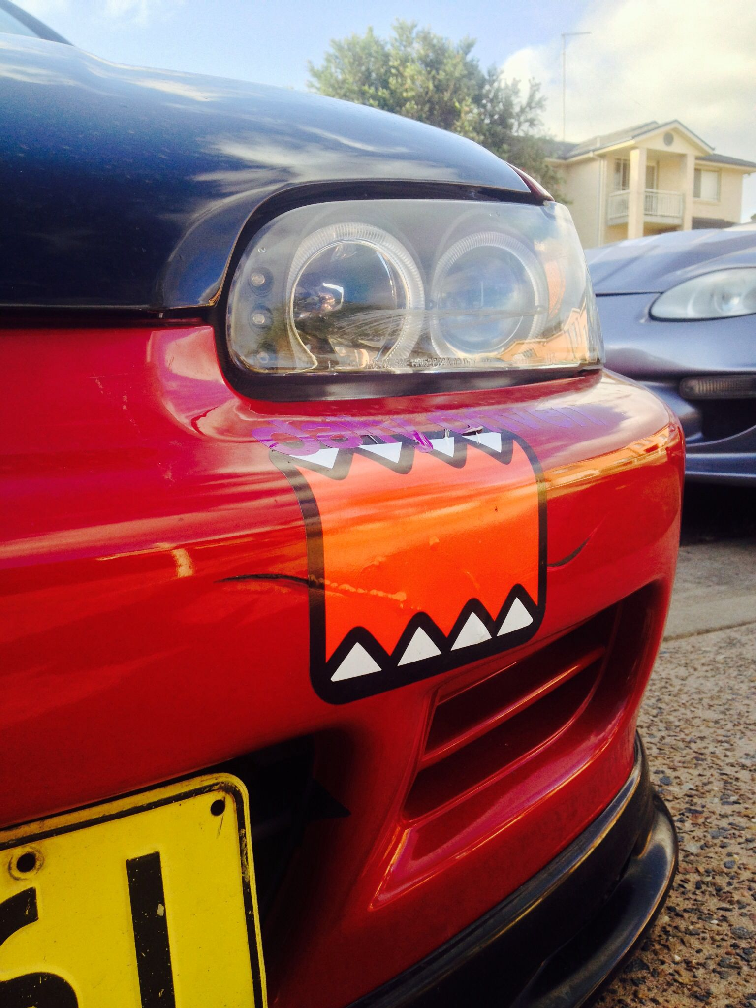 Car decals tribal graphic design zion series - So He Puts A Domo Sticker Over The Hole