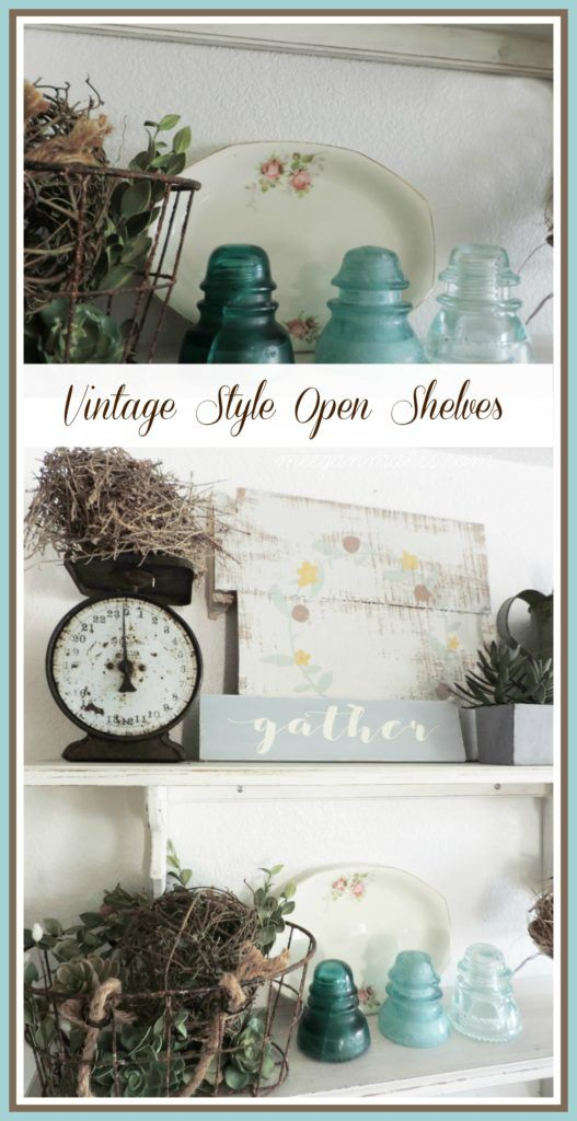 Vintage Style Open Shelves