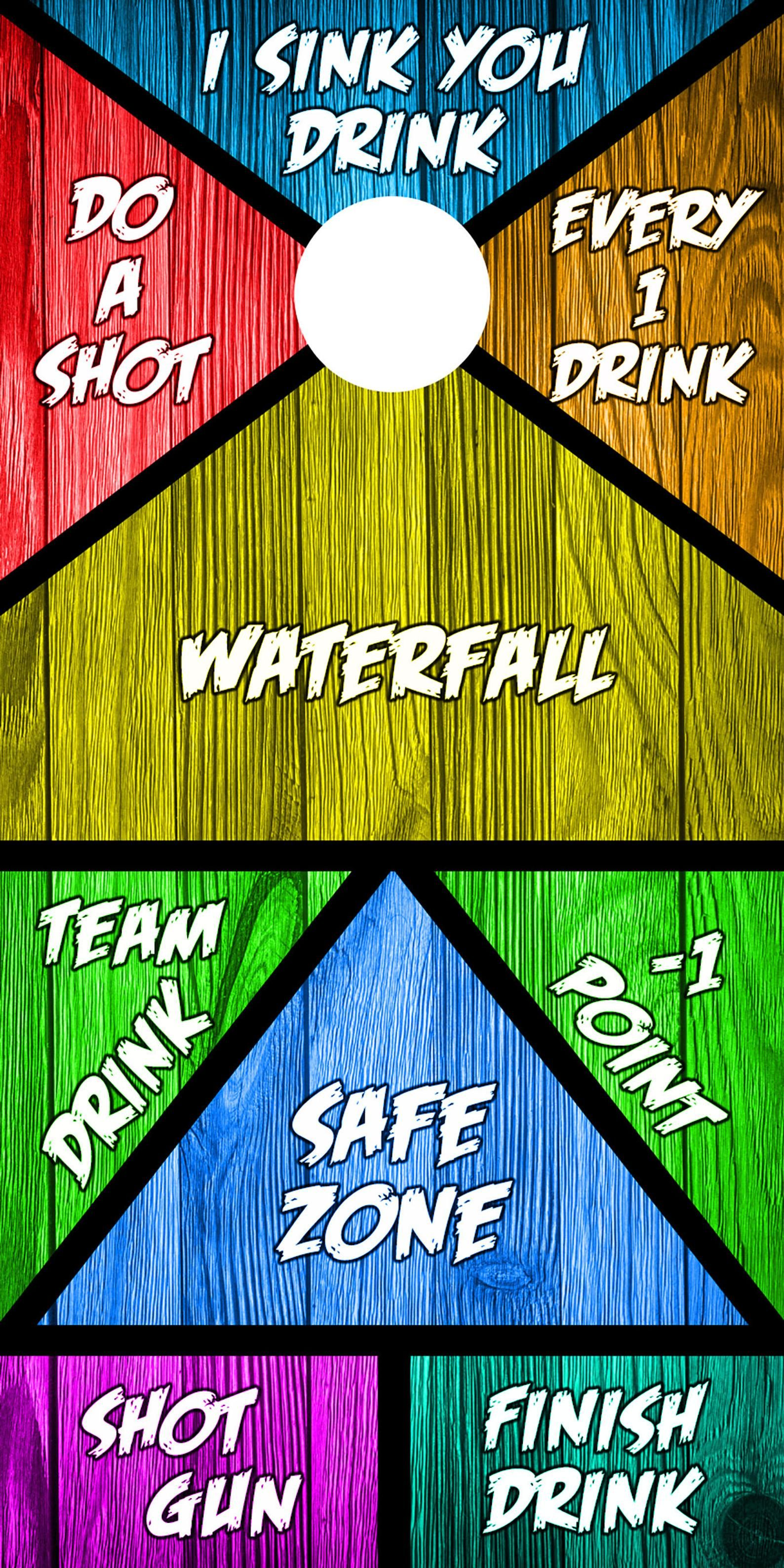 Corn hole drinking game vinyl wrap decal set of 2 etsy