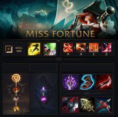 Miss Fortune Build E Runas Miss Fortune League Of Legends Builds Lol League Of Legends