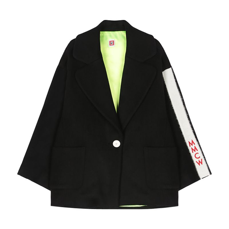 MMCW PATCHED HALF COAT (BLACK)   ALAND   Multi-brand Fashion Store of Designer Pieces