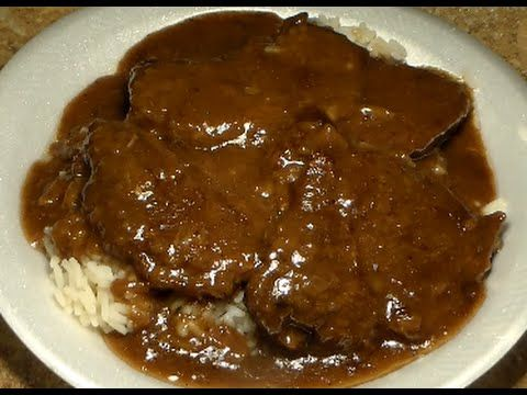 Smothered Steak With Onions & Dark Gravy Recipe