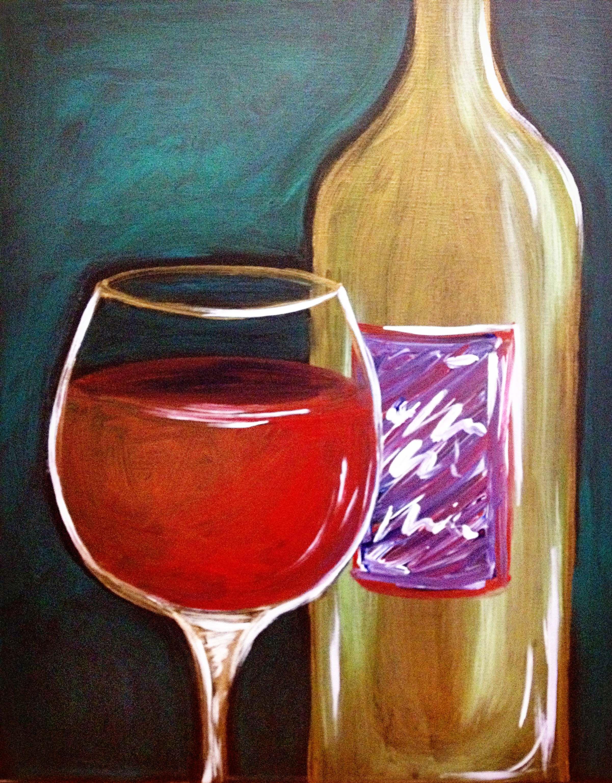 In Vino Veritas Large Wine Painting Painting Art After Dark
