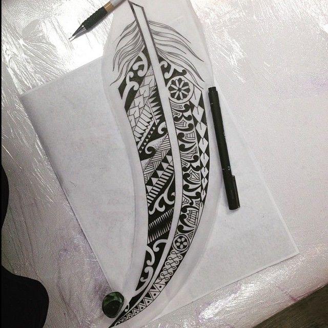 Maori Feather Tattoo: Maori Feather Design By @leemagnumcircus #magnumcircus