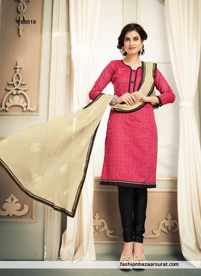 8f6ef378d9 Buy Blooming Beige And Pink Chanderi Silk Churidar Salwar Suit Online