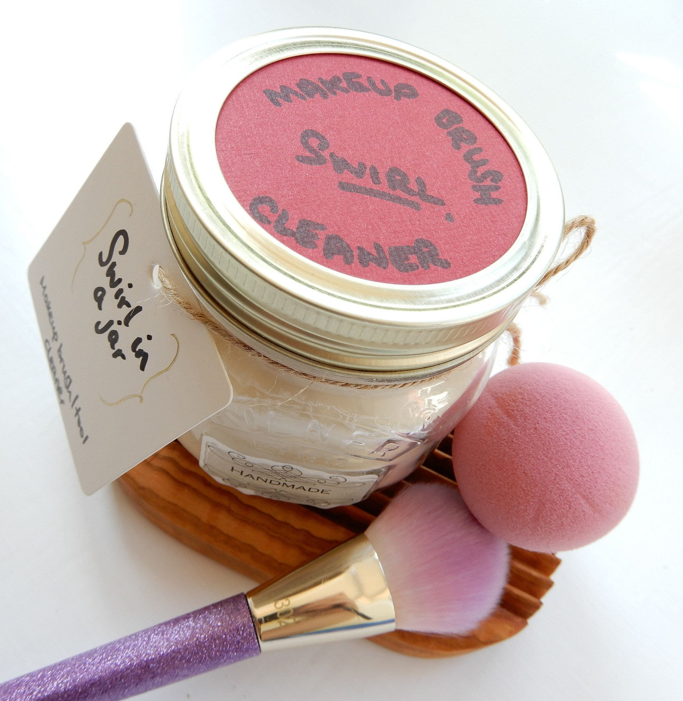 Swirl In a Jar Soap Solid Vegan Makeup Brush/Tool