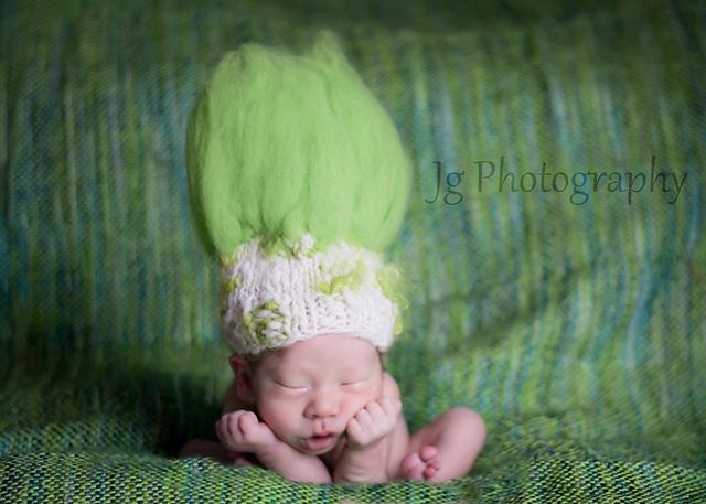 Troll Doll Baby Hat pattern by Tracie Taggart | Pinterest