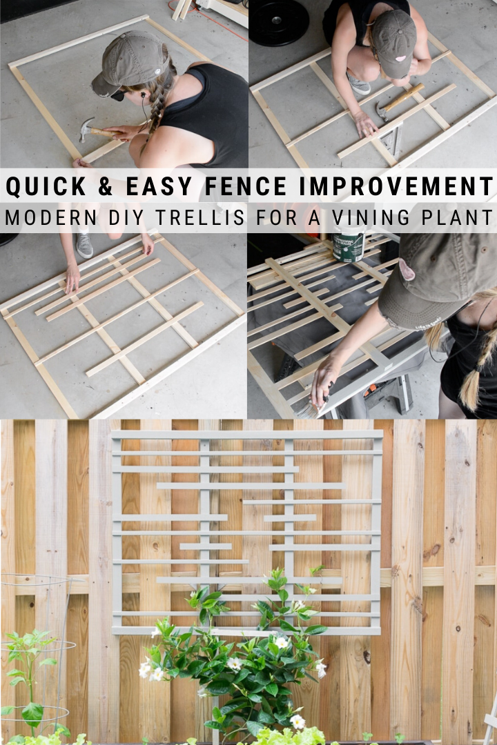 Diy Trellis For Vines Making A Modern Garden Trellis In 400 x 300