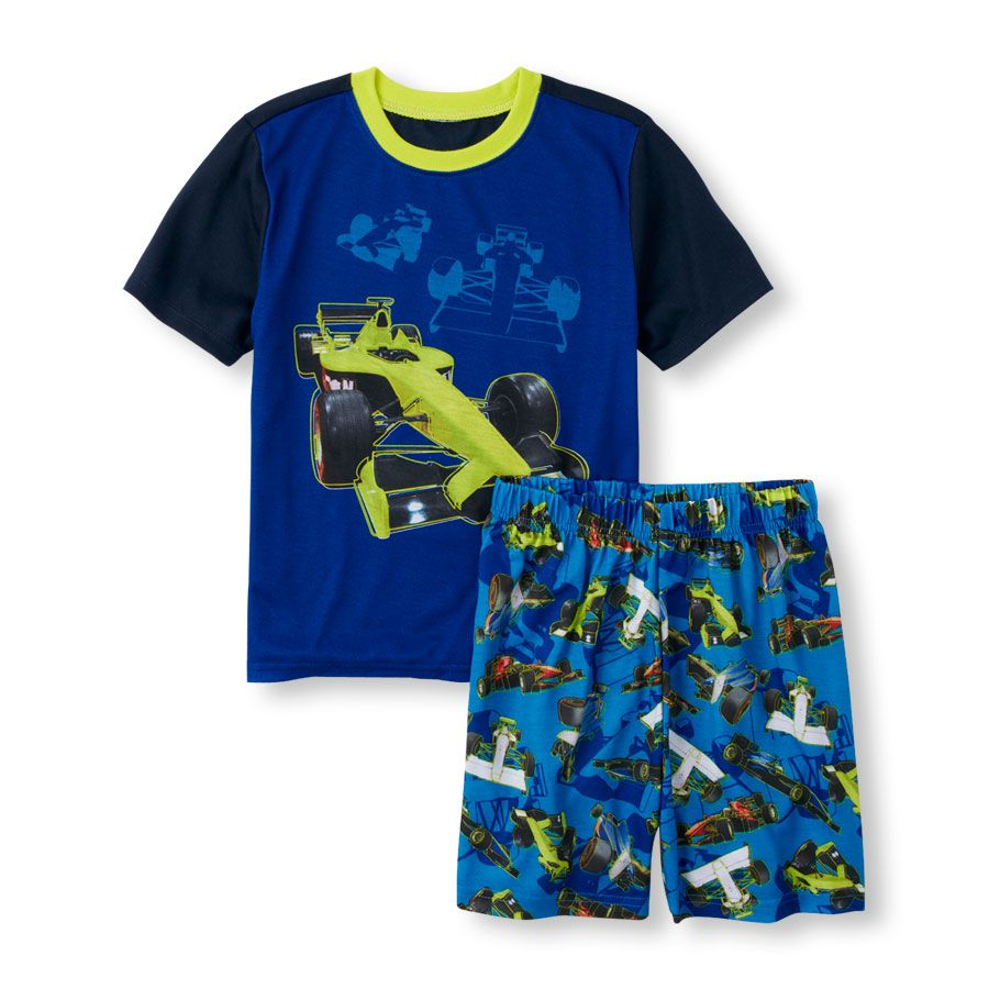 The Childrens Place Baby Boys Screen Tee and Shorts Set