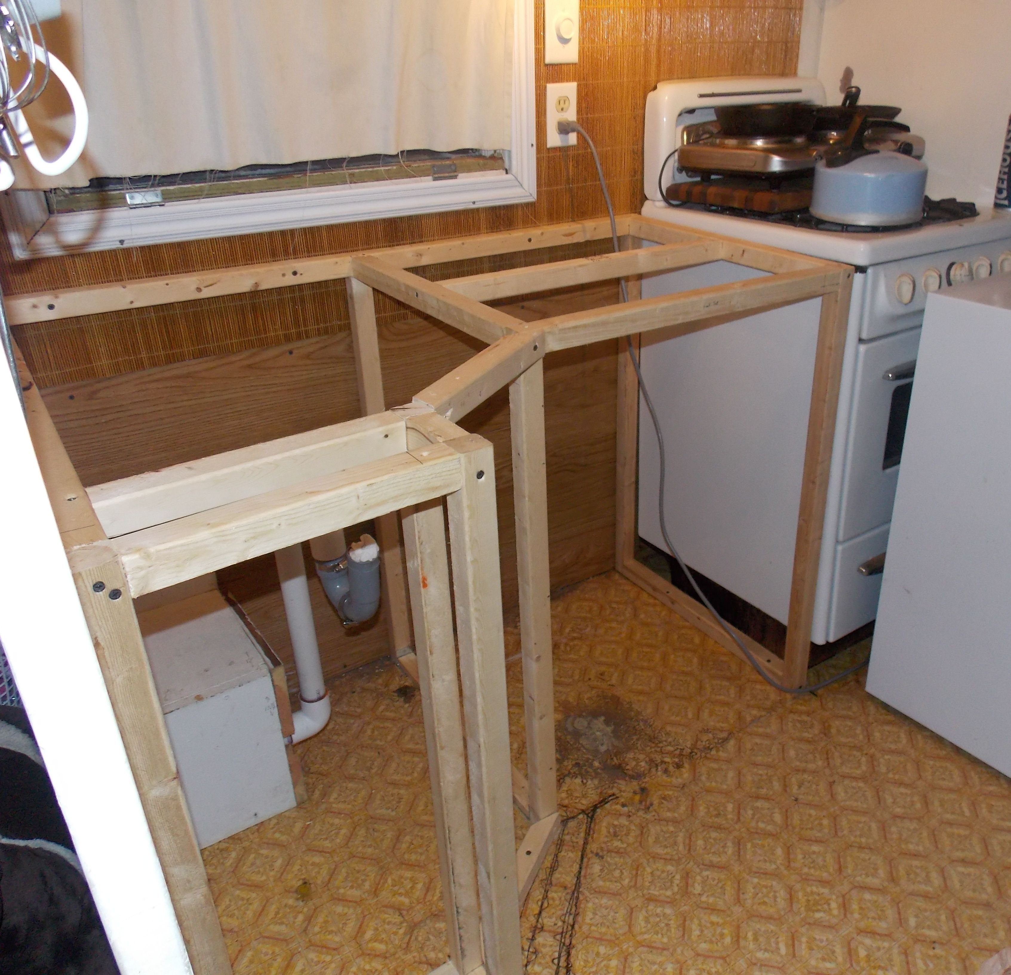 How Much To Redo Kitchen Cabinets: Travel Trailer Kitchen Remodel - Google Search