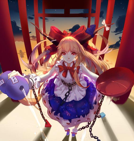 東方project suika mconchのイラスト anime anime images fantasy girl