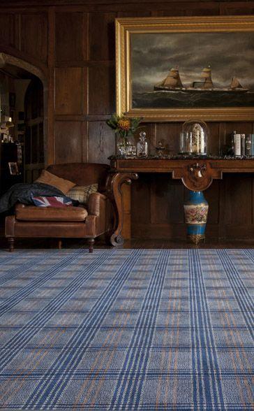 Flock Contemporary Plaid Carpet In Grand Living Room Brecknock Talbot British Decor English Living Rooms English Decor