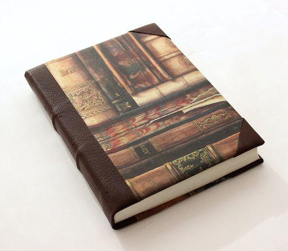 Vintage Leather Journal  Old Books by GatzBcn on Etsy
