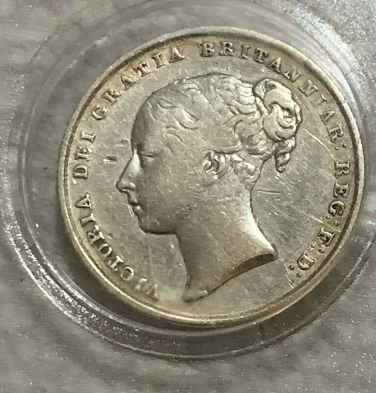 Collecters Item 1845 Great Britain 1 Shilling Queen Victoria Silver Coin Silver Coins Coins Victoria