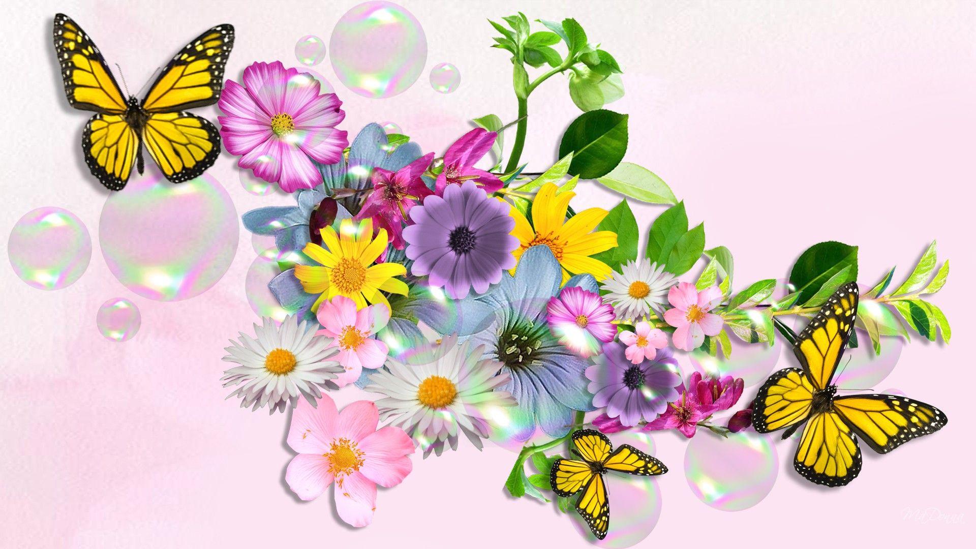 YouWall Yellow Butterfly Wallpaper wallpaperwallpapersfree