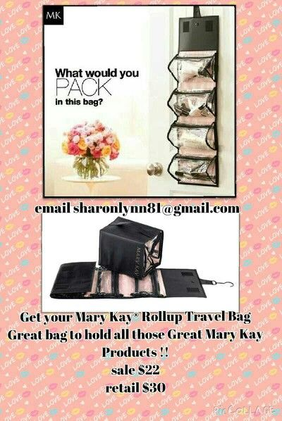 Mary Kay Rollup travel bag. Organizer for make up and skin care! Great for everyday use! check out my other sales! :)