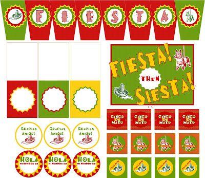 Embellish: {free printables & tutorial} Cinco de Mayo Fiesta