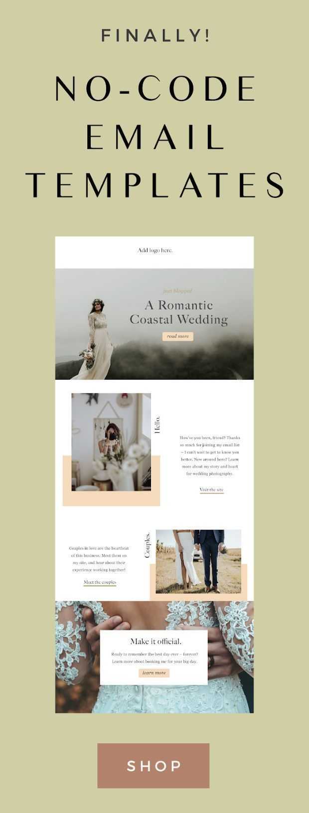 Finally, a better solution to creating creative email designs as a blogger, designer, photographer and more – with no code required! | mailchimp newsletter design, mailchimp template, mailchimp email design, mailchimp email, mailchimp tips, email templates, email design templates, design templates