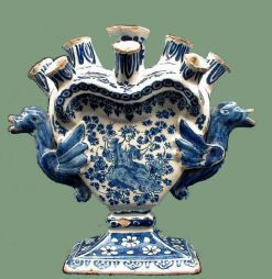 A fine Antique Dutch Delft Multiple Tulip vase, early eighteenth century