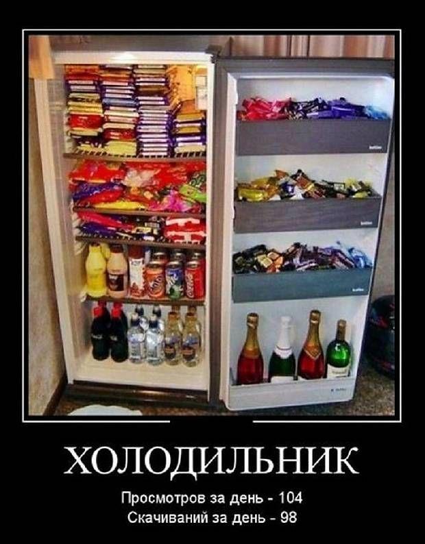 постоянно помешивая, пустой холодильник демотиваторы что мужчина лишним