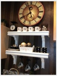 Cafe Shelves Solution for an Awkward Space