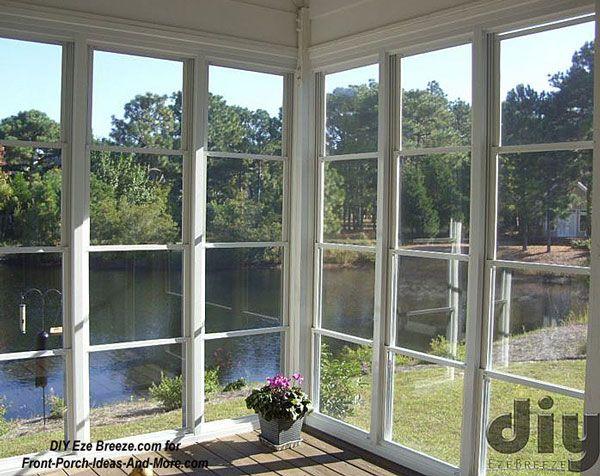 4 Track Eze Breeze® Screen Porch Windows On 3 Season Room