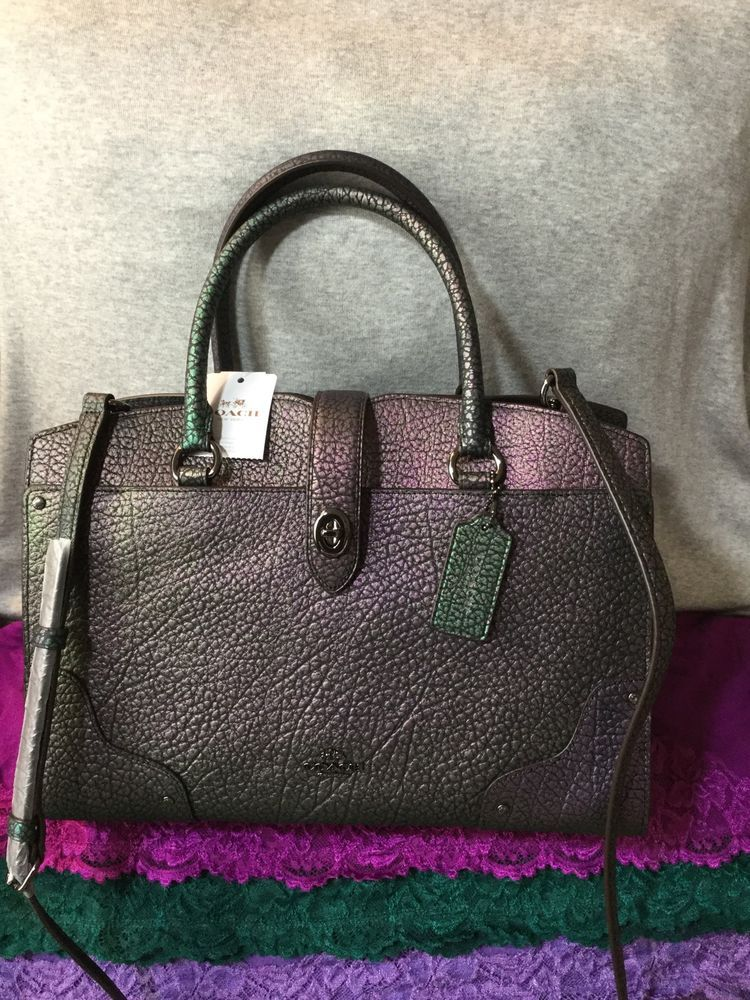 59ff5e620ac Coach Mercer 30 Hologram Leather Turnlock Shoulder Bag Tote Satchel (LAST  ONE) #purses #fashion
