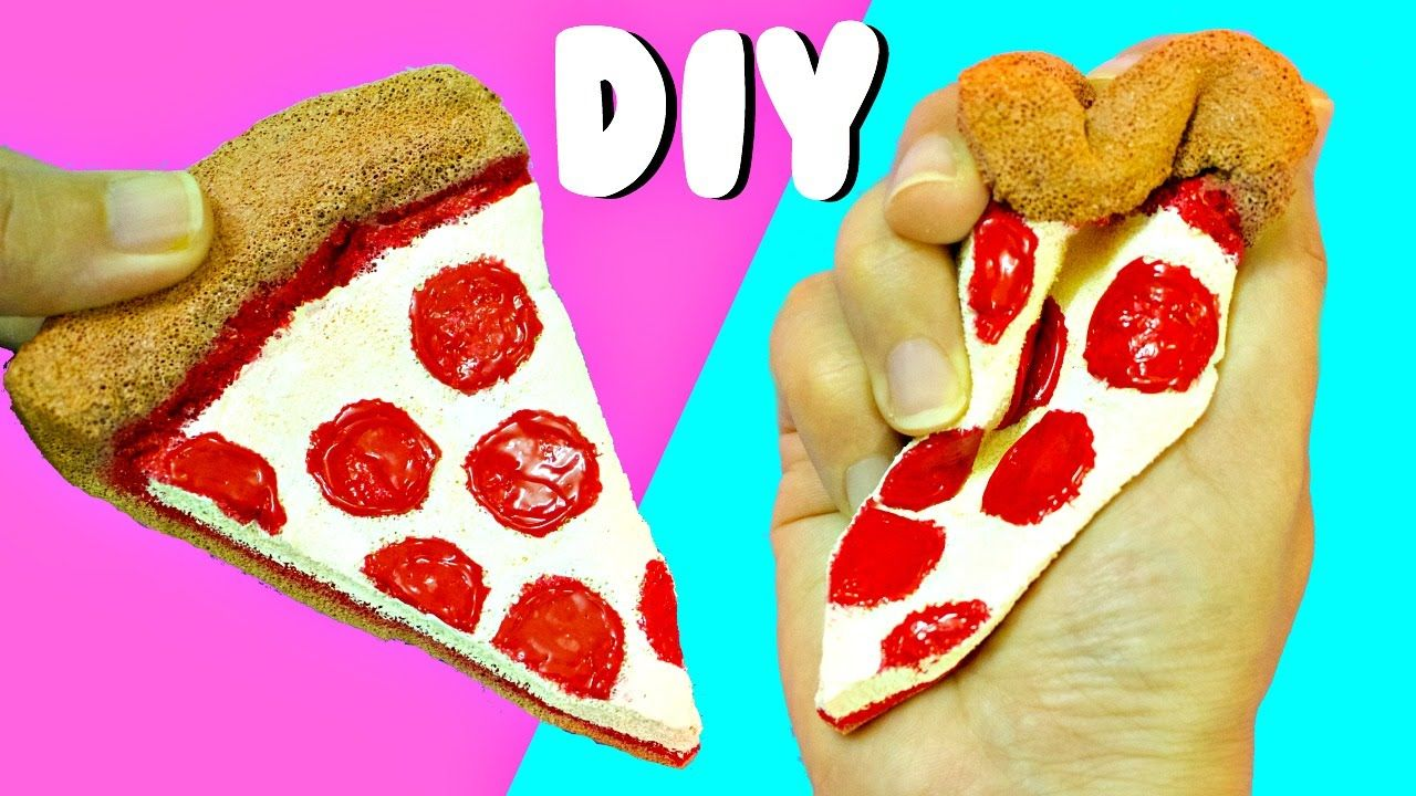 Squishy Toys Diy : DIY PIZZA SQUISHY EASY DIY Toys for Kids Aira s DIY Videos Pinterest DIY toys, Toy and Easy