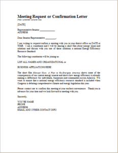 Meeting Confirmation Letter Download At HttpWwwTemplateinnCom