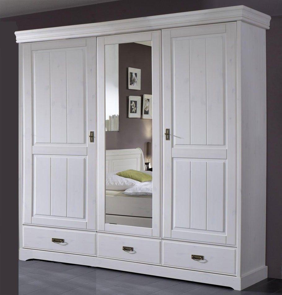 Kleiderschrank Weiss Tall Cabinet Storage Home Decor Wardrobe