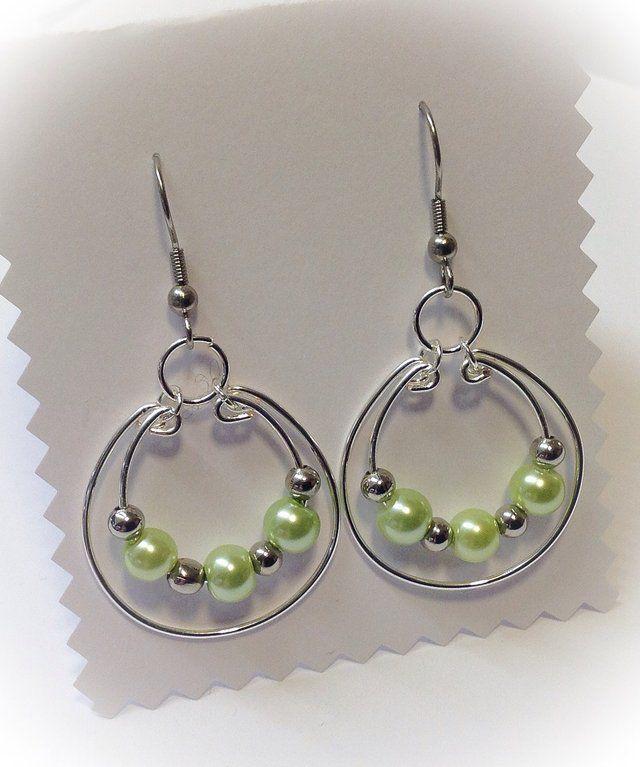 Greenbeads Mint Beaded Dangle Earrings BokW8TP