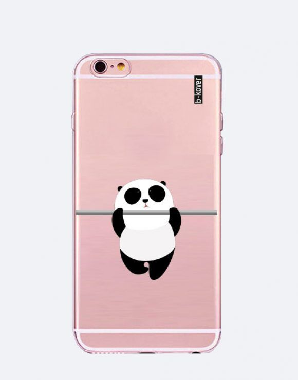 fd025781280 Funda móvil silicona transparente panda rama | Panda Collection ...
