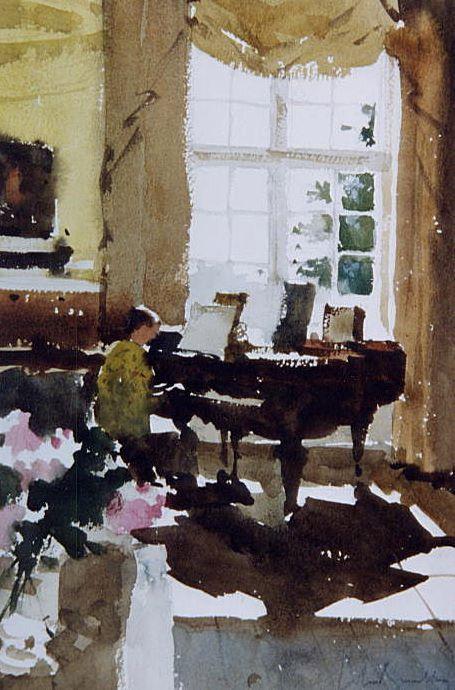 John Yardley (b 1933, UK) watercolour Peintures divers