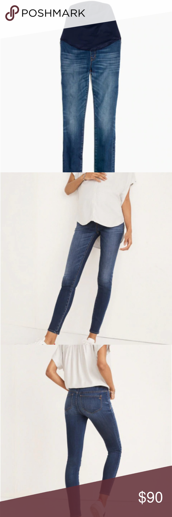 630ca70ec00dc Maternity Over-the-Belly Skinny Jeans Tencel Ed Madewell maternity jeans.  Purchased early