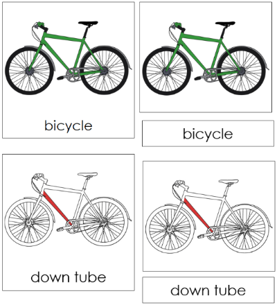 Bicycle Nomenclature Cards Red With Images Bicycle