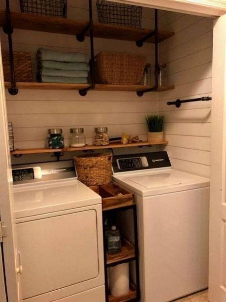 60+ Coolest Laundry Room Ideas for Top Loaders with Hanging Racks images