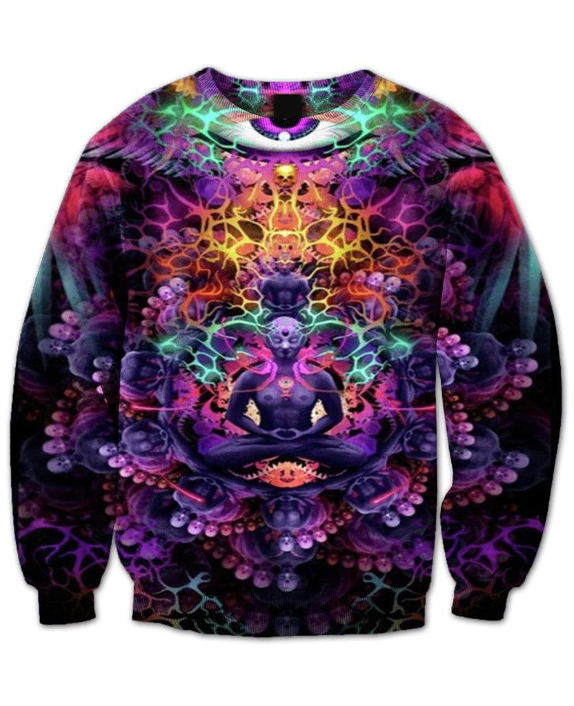 3D Print Rainbow Mandala Chakra  Mens Hoodie Sweater Sweatshirt Jacket Pullover