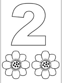 afbeeldingsresultaat voor cijfer 2 kleurplaat