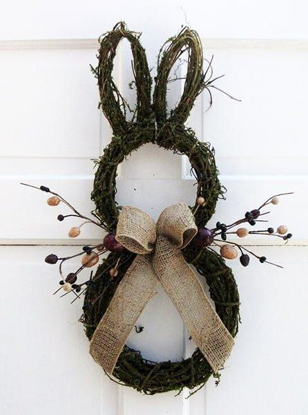 Photo of This DIY Easter wreath not only looks pretty, but is quickly made. E …