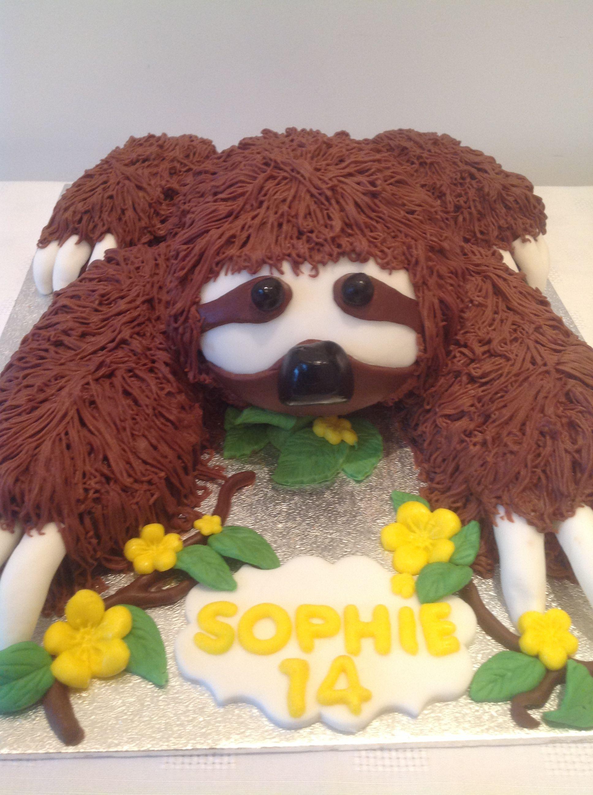 Sloth Cake By Lyn