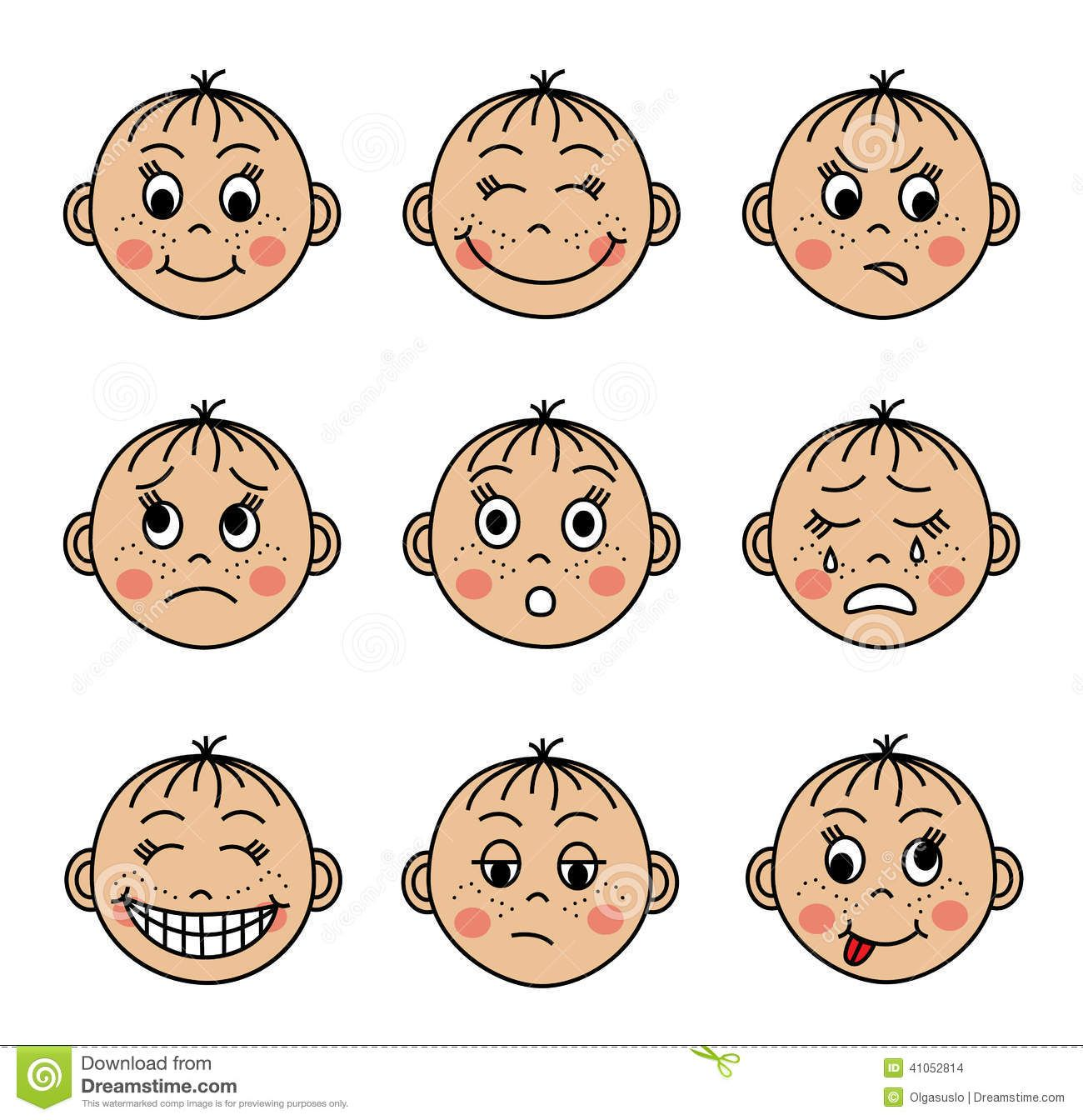 Feeling Faces Clipart Clipart Collection