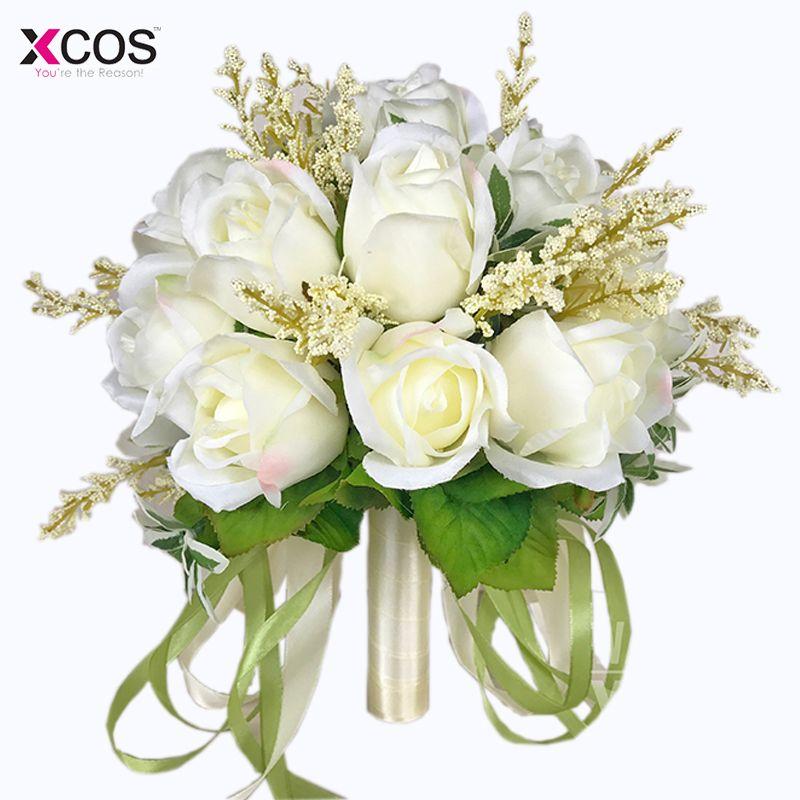 Brautstrauss Qualitat Ivory Rose Werfen Hochzeit 18 Blumen
