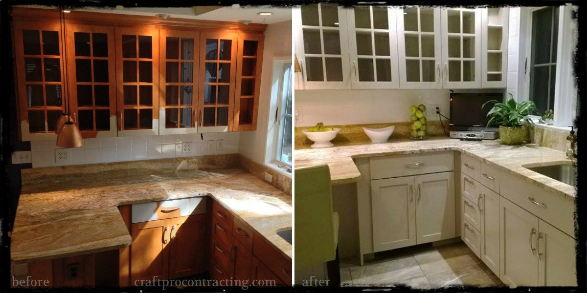 Before & After Our Kitchen Cabinet Painting Project in Morristown NJ ...