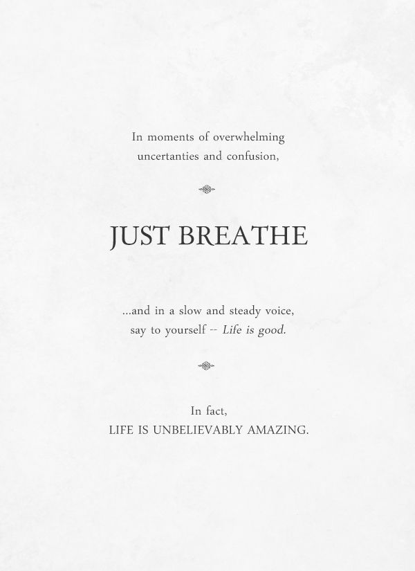 Breathe Quotes Just breathe — by Of Trees and Hues | Funny & Delightful | Quotes  Breathe Quotes