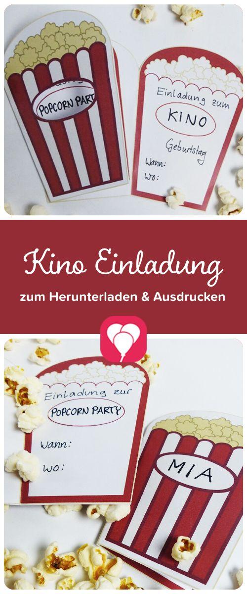 Photo of Popcorn card as cinema invitation or cinema voucher – balloonas.com