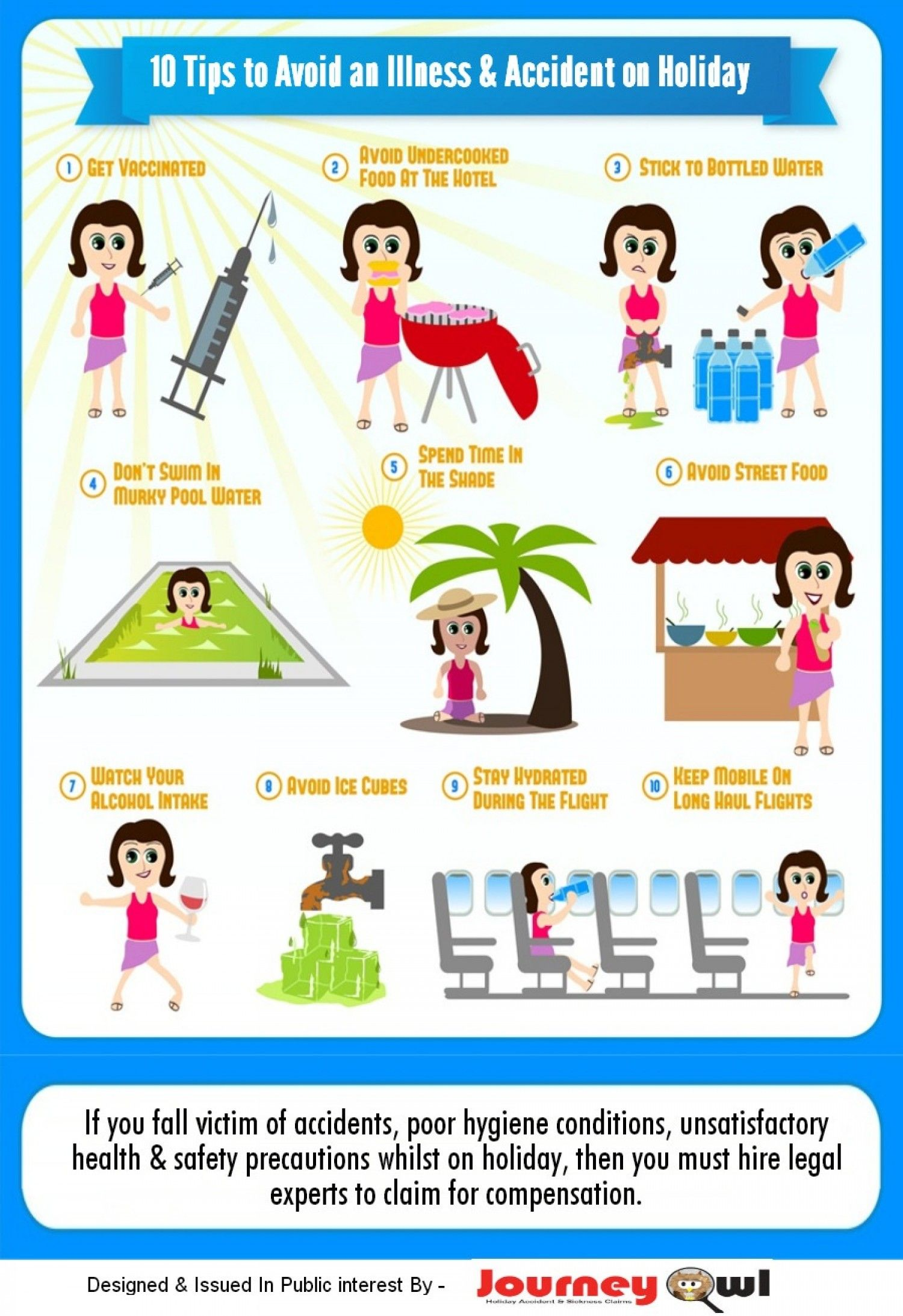 Nobody wants to be sick on vacation! Here are 10 Tips to